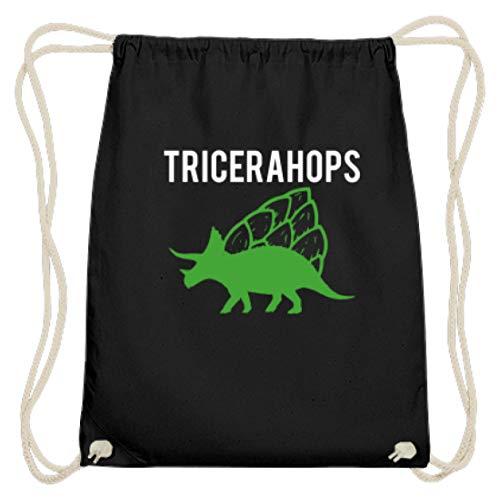 Tricerahops Triceratops con lúpulo en la espalda - Algodón Gymsac, color Negro,...