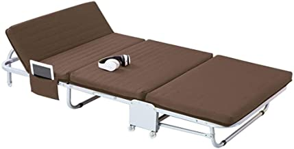 Folding Bed Simple Bed Household Folding Single Office Invisible Portable Accompanying Camp Bed Folding Bed Single (Color ...