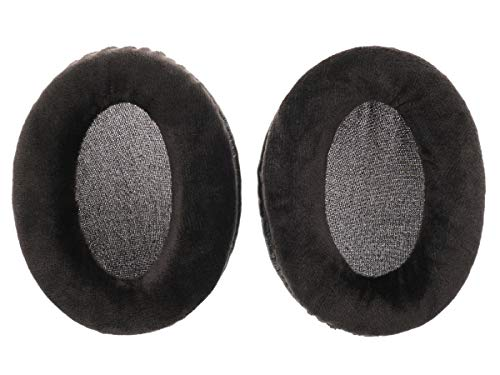 2 vervangende velours oorkussens voor Shure SHR940, SHR1140, SHR1840 koptelefoon, zwart