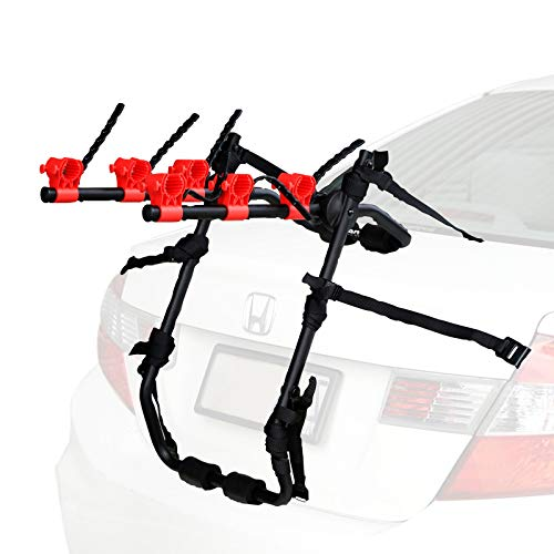 Venzo 3 Bike Rack for Car SUV Universal Carrier - Bicycle Trunk Mount Rear Racks -Sedan, Hatchback, Small SUV