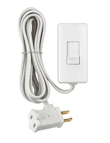 Leviton TBL03-10W Tabletop Slide Control Lamp Dimmer, 300-Watt, White