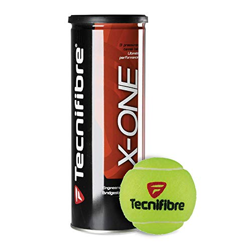 Tecnifibre X-ONE - Premium Hard Court Tennis Ball Cans in Multi-Packs, 3 Balls Per Can (12 Cans = 1/2 Case)