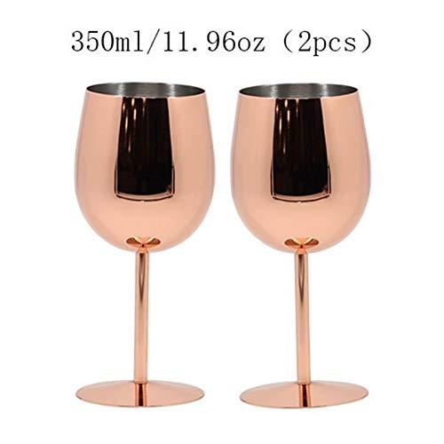 YJLLOVE YANGJIAOLIAN 350 ml / 550 ml de Rosa de Acero Inoxidable de Acero Inoxidable Vidrio de Vino Copa de Bebida Champagne Goblet barware Herramientas de Cocina Suministros de Fiesta