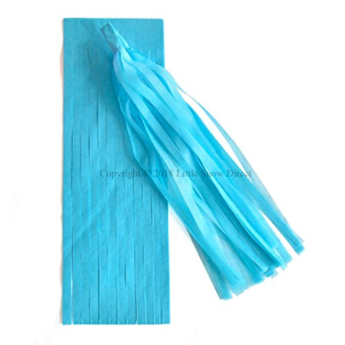 Little Snow Direct 5pcs Tassels Garland Tissue Paper Bunting Wedding Birthday Party Baby Shower - Aqua/Turquoise