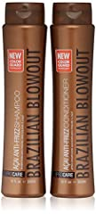 A two pack special offer of the Brazilian Blowout Acai Shampoo and Conditioner for maintenance of the Brazilian Blowout treatment Anti Frizz Shampoo and Conditioner Massage Shampoo & Conditioner throughout wet hair and scalp; Rinse thoroughly and rep...