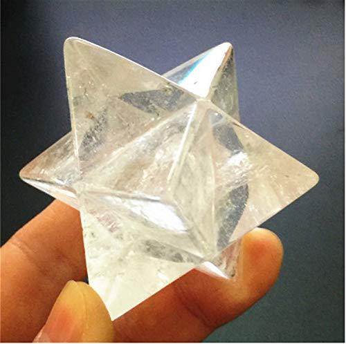 ACEACE Natural de Cristal de Cuarzo de la Piedra Preciosa Estrellas Hexagram Unicursal Excelente for la meditación Positiva Equilibrio Conjunto (Color : A)