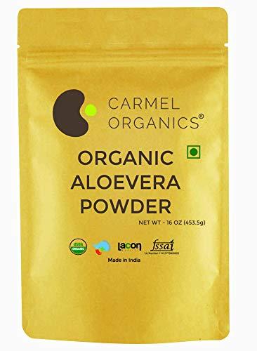 Organic Aloevera Leaves Powder (16 Oz) USDA Certified Organic. Non GMO & Gluten Free