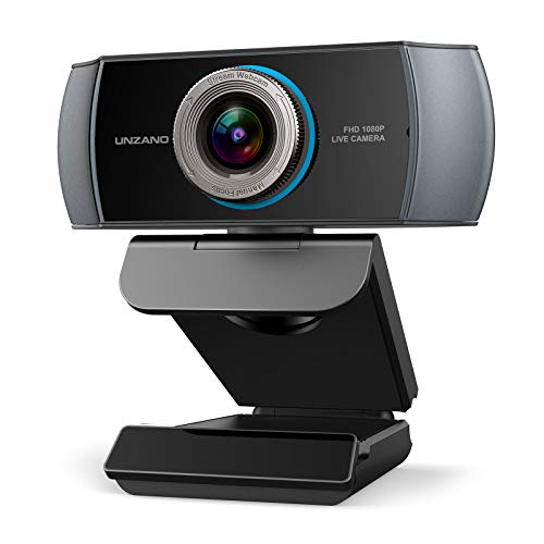 Full HD Webcam 1080P, Streaming Camera, Widescreen Video Calling and Recording with Microphone, USB Wide Angle Skype Camera with Facial-Enhancement Technology, Desktop, Laptop,YouTube, Xbox