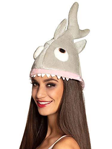 Boland 99951 - Hut Hai für Erwachsene, Einheitsgröße, Grau, Fisch, Unterwasserwelt, Kopfbedeckung, Accessoire, Mottoparty, Karneval