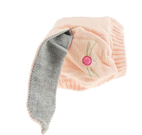 Superweicher Baby-Hut für Mädchen und Jungen, Ostern, Hasenohren, Wintermütze bis zu 3 Jahren Gr. Einheitsgröße, Rosa Nase