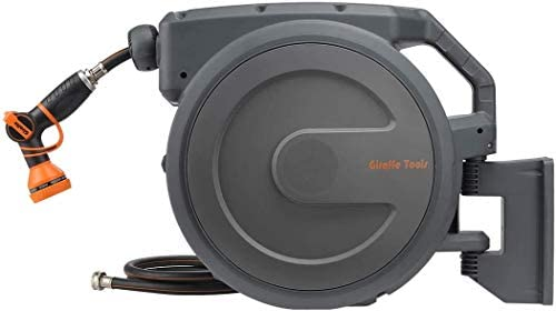 Giraffe Hose Reel 5 8 90 Wall Mounted Retractable Garden Hose Reel with 9 Pattern Hose Nozzle product image