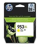 HP 953XL F6U18AE, Amarillo, Cartucho de Tinta de Alta Capacidad Original, compatible con impresoras de inyección de tinta HP OfficeJet Pro 7720, 7730, 7740, OfficeJet Pro Series 8000