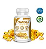 Omega 3 6 7 9, 90 perlas enriquecidas con aceite de lino, onagra, oliva, germen de trigo y nueces de Macadamia, beneficioso para el corazón, vista y cerebro, novonatur