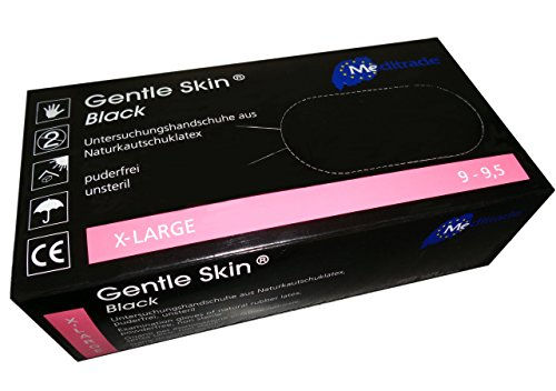 Latex-Handschuh Gentle Skin black 1000 Stück (10 Boxen à 100 STK) (XL)