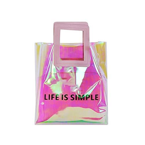 Read About AnologoB JHY Upright Section Lame Open Waterproof Women's Handbags