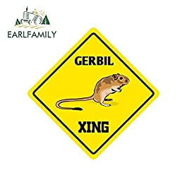 A/X 13cm x 13cm for Gerbil Crossing Sign Funny Car Stickers Vinyl Windshield RV VAN JDM Accessories Graphics Sign Logo