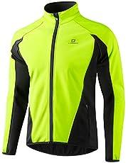 LAMEDA Fietsjack voor heren, thermo softshelljas, winddicht, waterdicht, winterjas, ademend, reflecterend, voor fietsen, sport, hardlopen, wandelen