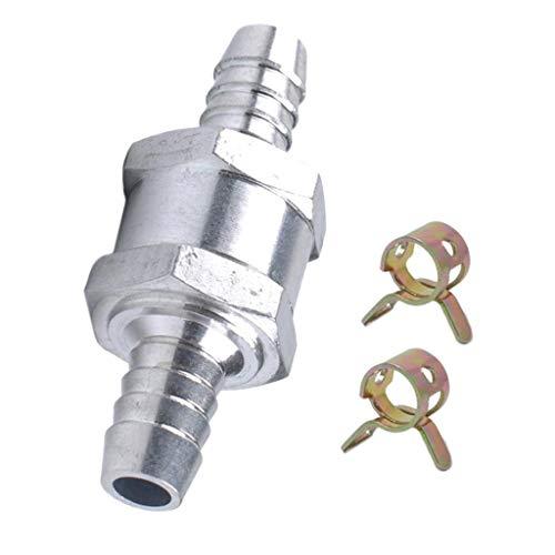 IPOTCH Válvula de Retención Antirretorno de 5/16'8 Mm Línea de Combustible Aceite Gasolina Agua Unidireccional