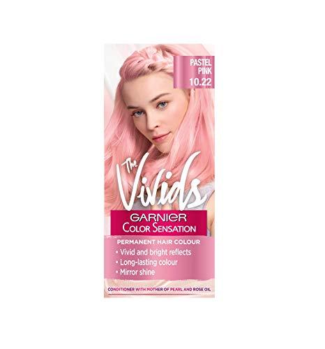 Garnier Color Sensation Vivids Pink Hair Dye Permanent 10.22 Pastel Pink