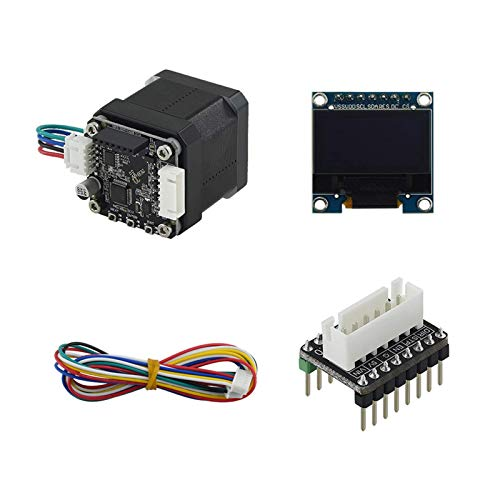 Printer Accessories Closed Loop Stepper Motor,3D Printer Parts Stm32 42 Closed Loop Stepper Motor Mks Servo42B with OLED Display Screen Adapter Board Cable Prevent Losing Steps