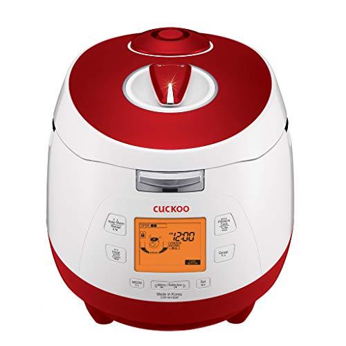 CUCKOO CRP-M1059F Olla arrocera a presión de vapor programable de acero inoxidable, olla de presión y olla de cocción lenta.
