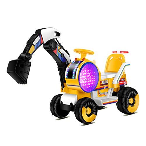 FXQIN Excavadora Eléctrico para niños y niñas, Excavadora Camión Pedal Tractor Juguete...