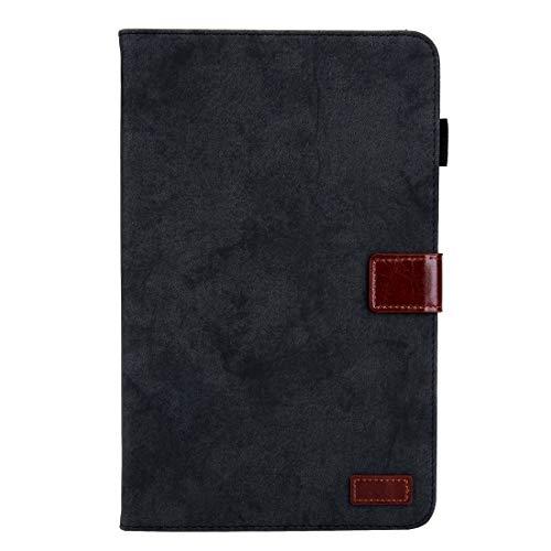 Dmtrab para Para Samsung Galaxy Tab A 10.1 (2016) / T580 Case, Estilo de negocios Funda de cuero Horizontal Flip con soporte y ranura para tarjetas y Función de marco y desvanecimiento (gris) Casos de