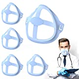 Giorefix 3D Face Inner Bracket for Comfortable Breathing,Face Inner Support Frame|Under Frame Lipstick Protector Keep Fabric off Mouth to Create More Breathing Space[Washable|Reusable|Blue,5Pcs]