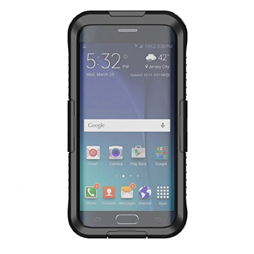 amison Galaxy S6 Edge einfach Water Resistant Case Cover Waterproof Hülle Taschen Unterwassergehäuse für Samsung Galaxy S6 Edge Plus (Schwarz)