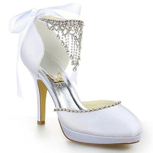 JIA JIA Wedding 3703 Hochzeitsschuhe Brautschuhe Damen Pumps weiß, EU 36