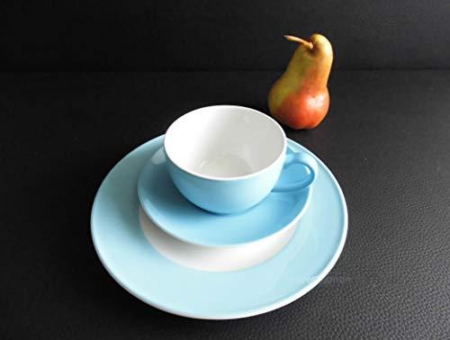 Dibbern SONDERAKTION Solid Color - Kaffeetasse m.U. 0,25 + Teller 21 cm - hellblau - NEU