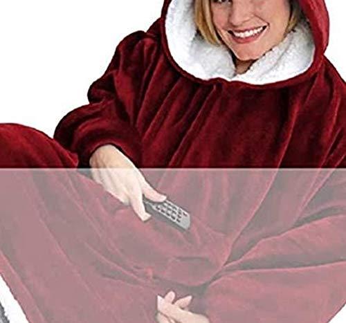 UMIPUBO Mujer Manta de Sudadera con Capucha Sherpa de Gran Jerse De Televisión tamaño Caliente y Esponjoso para Otoño Invierno Talla Grande Hoodie De Manga Larga Moda Sudadera Tops (F, One Size)