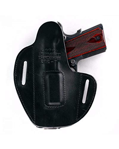 Urban Carry Holsters Lock Leather OWB Magnetic Retention Molded for Lasers - Black - Molded Shell...