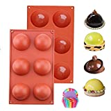 2 PCS Baking Mold for Making, Silicone Mold for Chocolate, Sphere Silicone Mold, Silicone Mold for...