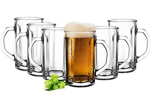 Sendez 6 Bierseidel 500ml Biergläser Bierkrüge Bierglas Pilsgläser Bierglas Gläser