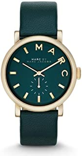 Marc By Marc Jacobs Women's Black Dial Leather Band Watch - Mbm1268, Analog Display
