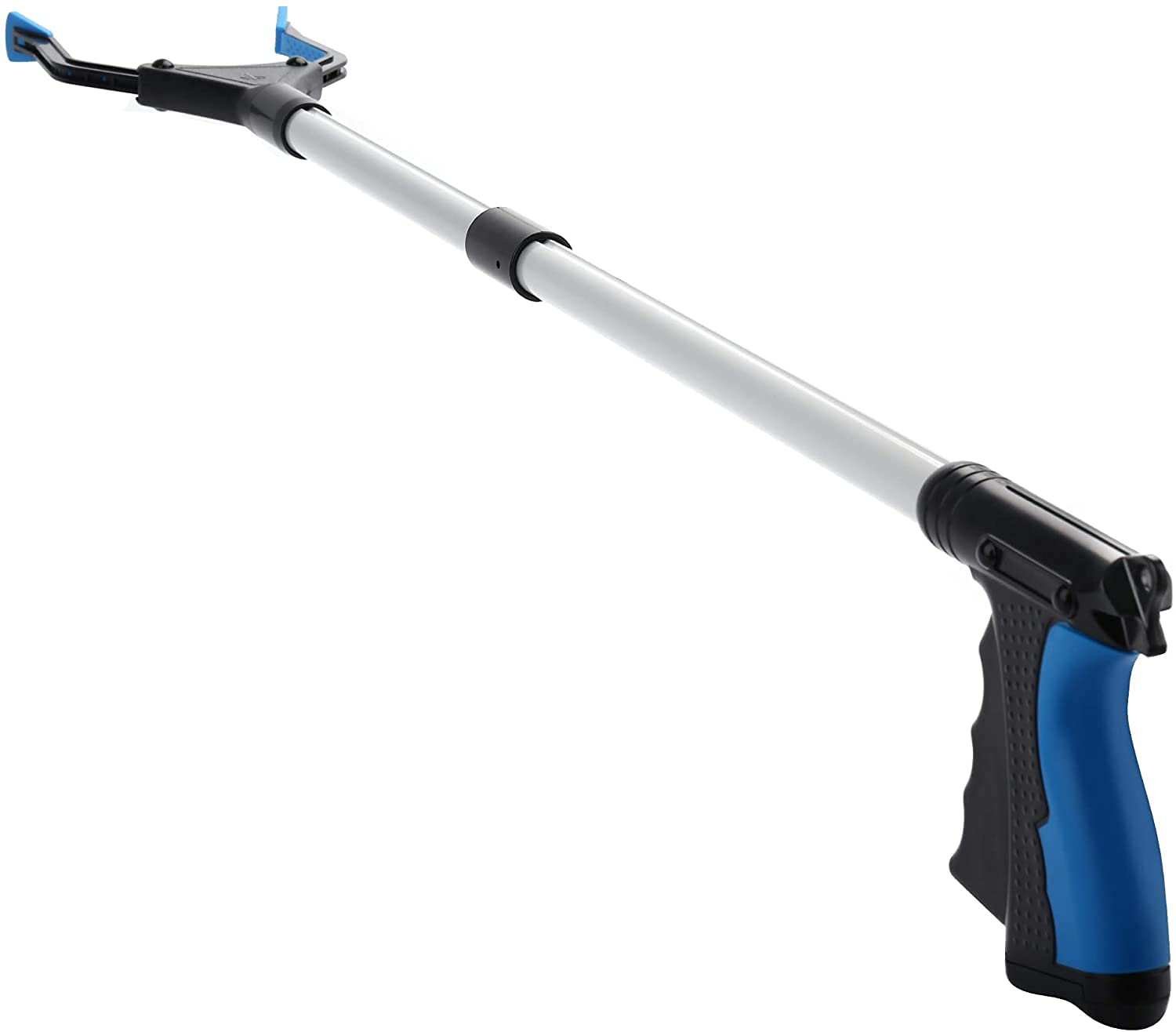 Movable Grabber Reacher Tool, Foldable Home Pick Up Device for Elderly Younger, Lightweight Long Handy Trash Claw Grabber, Mobility Aid Reaching Assist Tool, Trash Picker Grabber Tool (Blue): Industrial & Scientific