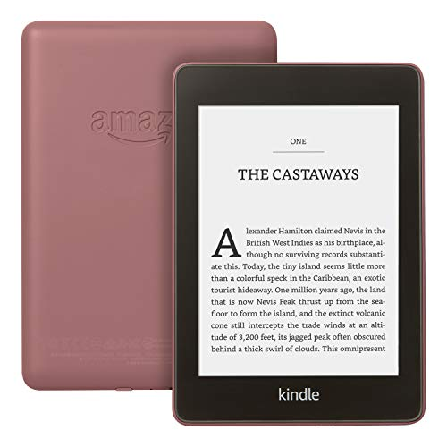 "Kindle Paperwhite | Waterproof, 6"" High-Resolution Display, 8 GB—with Ads—Plum"