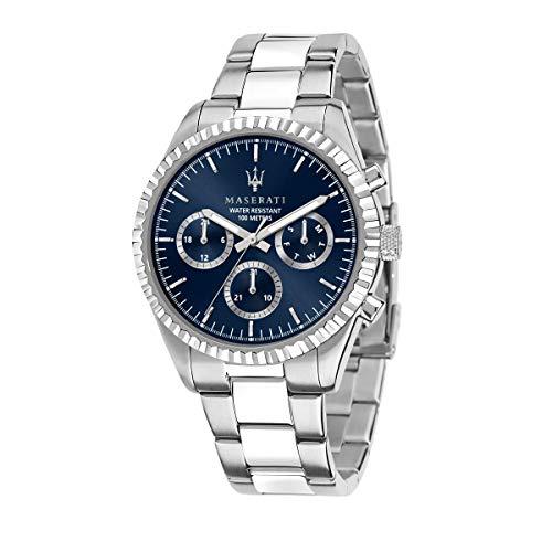 Maserati Reloj para Hombre, Colección Competizione, en Acero Inoxidable, con Correa de Acero Inoxidable - R8853100022
