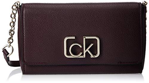 Calvin Klein - Ck Cast Flap Xbody, Bolsos bandolera Mujer, Rojo (Merlot), 8x16x25 cm (W x H L)