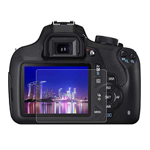 BYbrutek Protector de Pantalla de Vidrio Templado para Canon EOS R, 0,3 mm, Ultratransparente, Lámina de protección LCD con Dureza 9H, Antiarañazos, sin Burbujas, Antihuellas (EOS R)