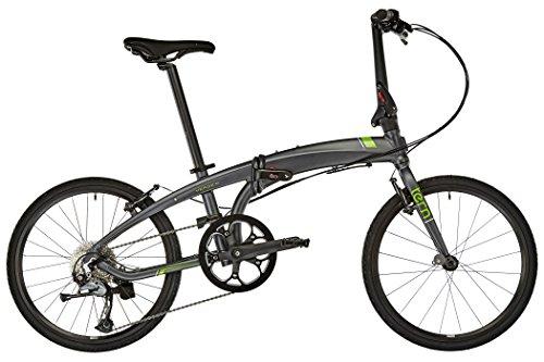 Tern Unisex Fahrrad Verge D9 Faltrad, Grau Grün, 9 Gang, 20