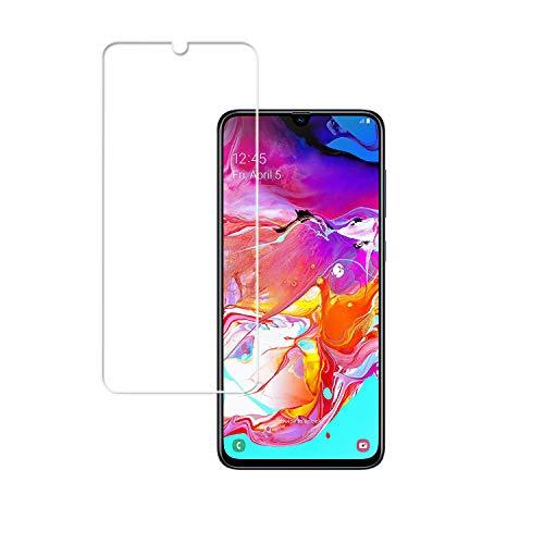 JHTC Schutzfolie für Samsung Galaxy A70 Gehärtetem Glas Displayschutzfolie HD Durchsichtig Glasfolie Panzerglas Glas Folie Displayschutz für Samsung Galaxy A70