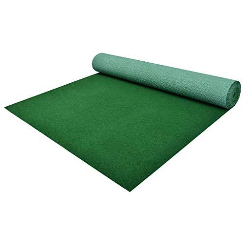 Festnight Césped Artificial Tipo Alfombra o Estera de Hierba Sintética de Exterior para Jardín y Terraza 5x1 m Verde