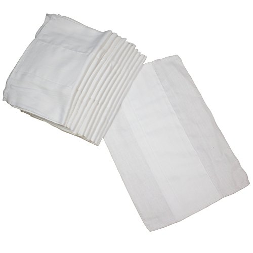 OsoCozy Indian Cotton Prefold Diapers - Soft and Absorbent...