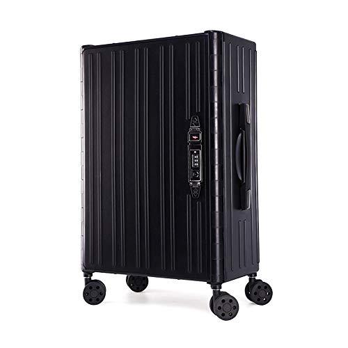 Foldable Trolley Case, Four-color, Convenient Storage, Not Taking Up Space (Color : Black)