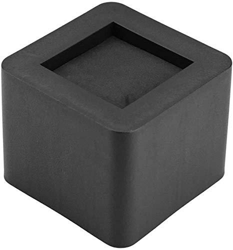 Sillas 4pcs Muebles Patas de pies Cuadrados de Protección Home Hotel Antideslizante sofá Cama DIY Aumento de la Altura Pies Muebles de Cuerpo sólido rasguño Anti Negro 10.5x6.5x8.5cm