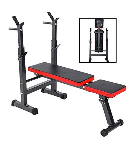 EEUK Hantelbank Multifunktion Tranings Fitness Bank,Unisex- Erwachsene Klappbare Hantelbank,Rückenlehne Mehrfach Verstellbar,für Bauch und Bein Schrägbank