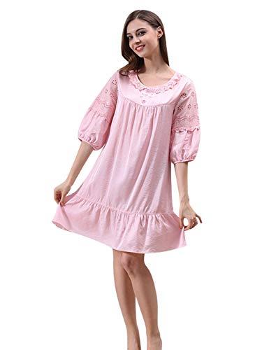 Pyjama Dames zomer boom sche nacht warm slaap thee slaap modieus compleet shirt nacht warm nachthemd nachtkleding