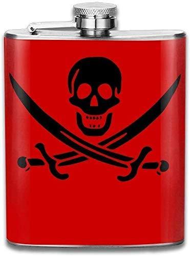 jarra de licor de acero inoxidable de 7 oz de piel de serpiente para adultos, frasco de bolsillo